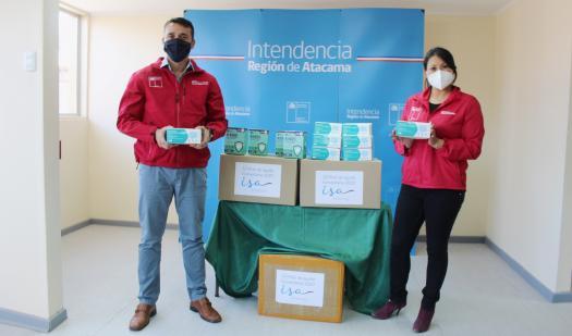 Atacama: Empresa eléctrica dona más de 5 mil mascarillas