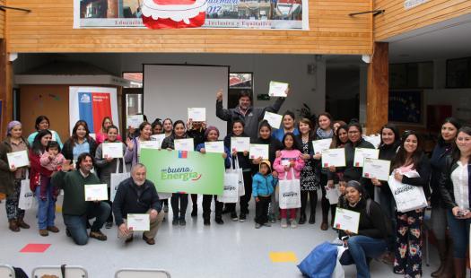 Mujeres de Puerto Chacabuco se convierten en embajadoras de la Eficiencia Energética