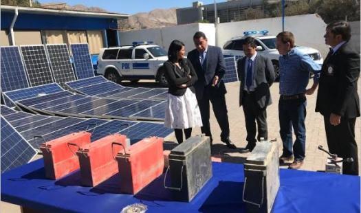 PDI recupera paneles solares robados y logra detención de varios involucrados