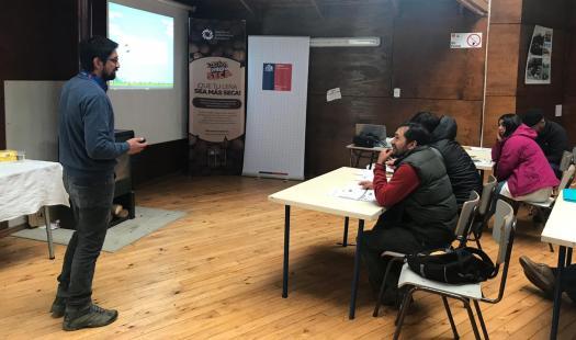 Capacitan en Secado de Leña y Desarrollo Empresarial a comerciantes y productores de leña en la provincia de Palena