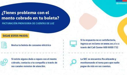 SEREMI de Energía Nolberto Sáez, entrega recomendaciones para resolver reparos en facturación provis...