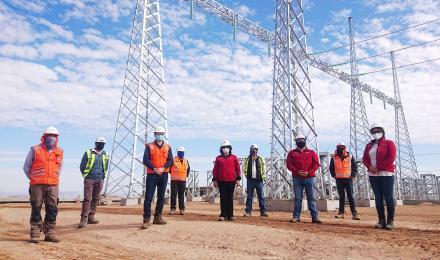 Autoridades verifican el cumplimiento de los protocolos sanitarios en el Proyecto Subestación Algarr...