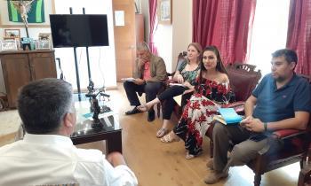 Autoridades se reúnen con presidente de la Asociación de Municipalidades de la Quinta Región para trabajar proyecto de apoyo a los sistemas de agua potable rural