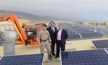 3° Brigada Acorazada la Concepción se suma a la Revolución Solar e inaugura Proyecto Techos Solares Públicos