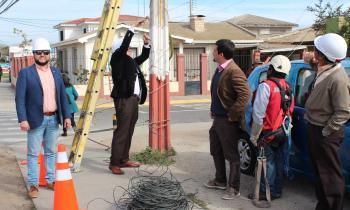 Más de 23 kilómetros de cables en desuso se han sacado de La Serena
