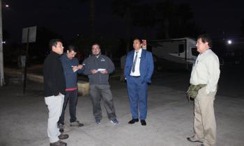 Seremi de Energía realiza Inspección Nocturna de luminarias Sector Chinchorro