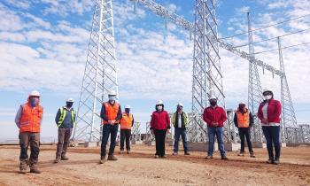 Autoridades verifican el cumplimiento de los protocolos sanitarios en el Proyecto Subestación Algarrobal