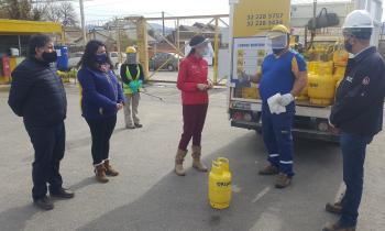 """Seremi de Energía y Director de SEC  Valparaíso realizan fiscalización de entrega de """"cilindros de gas"""" en pandemia"""