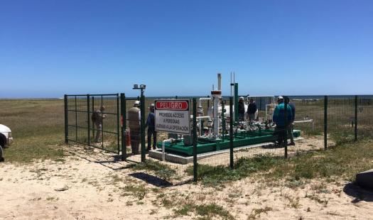 Ministerio de Energía visita central a gas en Isla Mocha