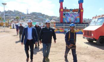 Fiscalizan condiciones eléctricas y de gas en la Pampilla de Coquimbo