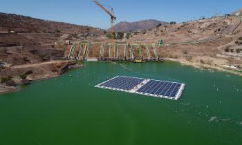 En la RM se dio inicio al plan piloto de la 1era planta fotovoltaica construida sobre un relave minero en el m...